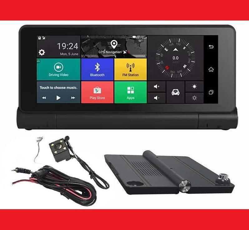 GPS навигатор-Видеорегистратор 7 дюймов GPS Pioneer 8618 DVR PRO 1GB/16GB + AV Андроид Full HD с картами 2019