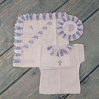 Крестильное полотенце, распашонка, чепчик для новорожденного
