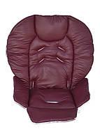 Чехол DavLu к стульчику для кормления Сhicco Polly 2 в 1 Бордовый под экокожу (Ch-002), фото 1