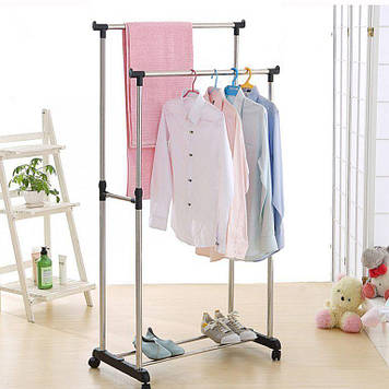 Стойка вешалка для одежды двойная Double Pole Clothes Horse