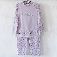 Пижама детская Donella Турция фиолетовая для девочки на 8/9 лет   1шт.