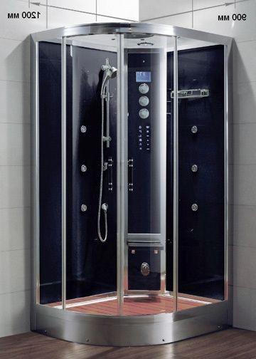 Гидромассажный бокс Grandehome WS103R/S6 правосторонний (чёрные задние стенки), 1200х900х2240 мм