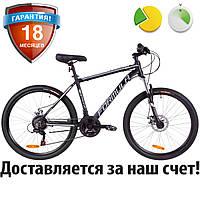 """Алюминиевый горный велосипед 26"""" Formula THOR 1.0 DD 2019 (черно-серый с белым, рама 18"""")"""