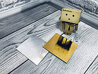 *100 шт* / Подложка под пирожное 90*100 Золото-серебро, 90*100 мм/мин 100 шт