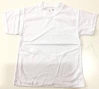 Детская футболка белая возраст 4-8 лет