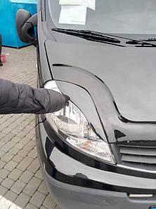 Вії для фар Porshe-style 2 шт, Renault Trafic, Opel Vivaro, 2001-2014, DDU RR139