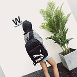 Рюкзак Puma Чорний/Білий лого, фото 3