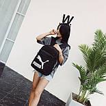 Рюкзак Puma Чорний/Білий лого, фото 5
