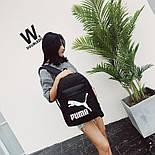 Рюкзак Puma Чорний/Білий лого, фото 6