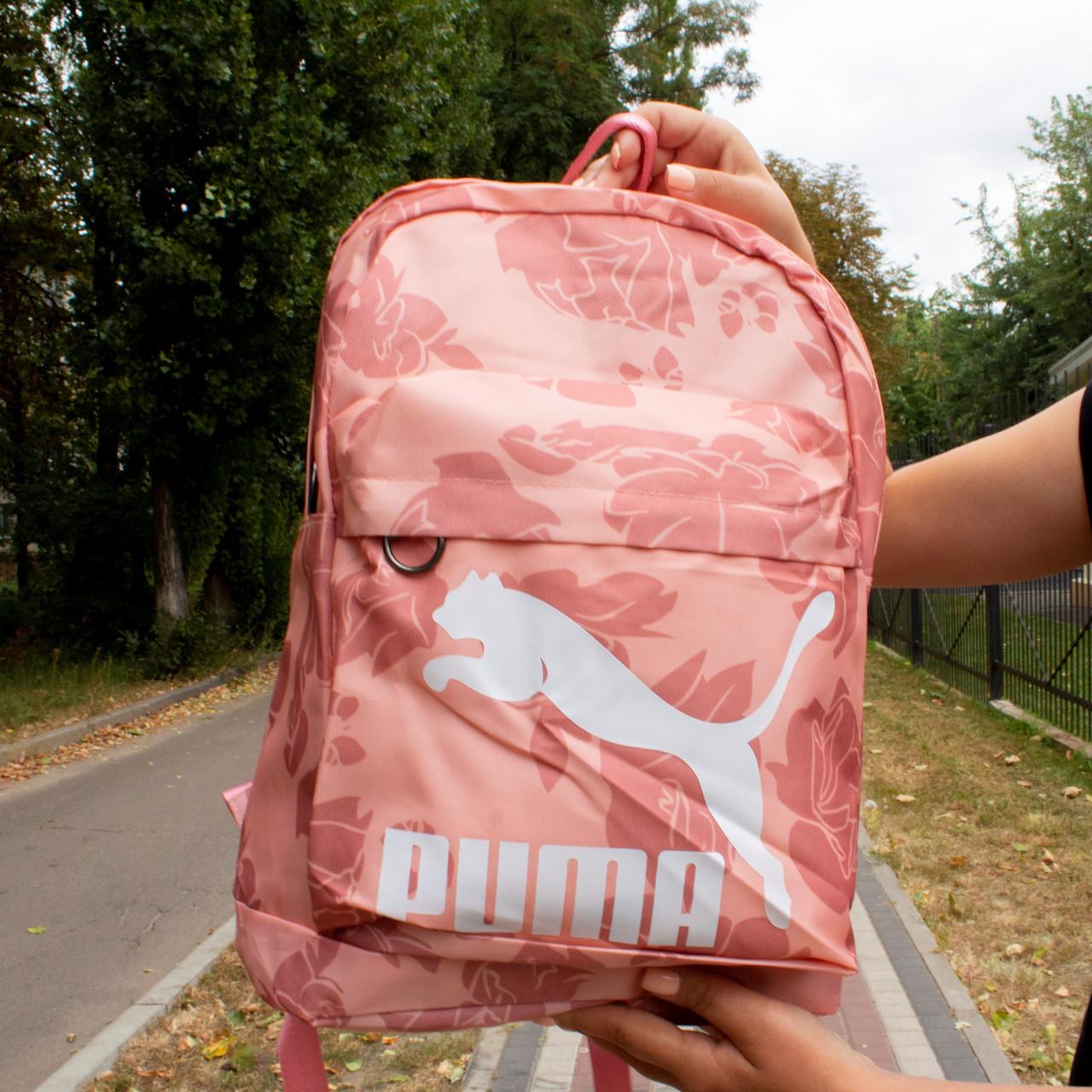 Рюкзак Puma (Розовый цветочный принт)