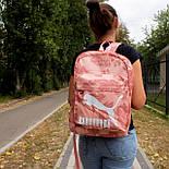 Рюкзак Puma (Рожевий квітковий принт), фото 4