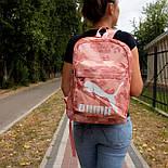 Рюкзак Puma (Рожевий квітковий принт), фото 5