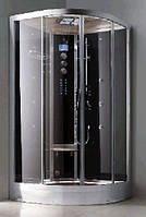 Гидромассажный бокс Grandehome WS101/S6 (чёрные задние стенки), 900х900х2240 мм