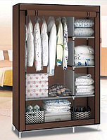 Складной тканевый шкаф Wardrobe Коричневый