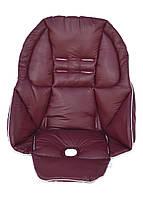 Чехол DavLu к стульчику для кормления Peg-Perego Tatamia Бордовый под экокожу, фото 1