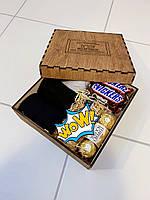 Подарочная деревянная коробка для мужчины,   покраска, фото 1