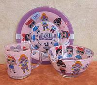 Набор детской посуды Лол 2
