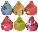 Бескаркасная мебель Пуф детский Спанч Боб кресло мешок, фото 6