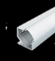 Комплект профиль алюм. угловой анод. ЛПУ17 + рассеиватель