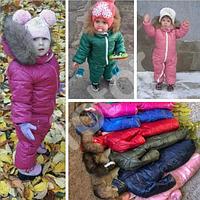 Комбинезон детский зимний на овчине 1,2,3,4 года (девочка/мальчик)