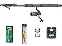 """Набір риболовний все в одному """"Щука-судак"""" універсальний 30-60гр., 2.7м, готовий до використання"""