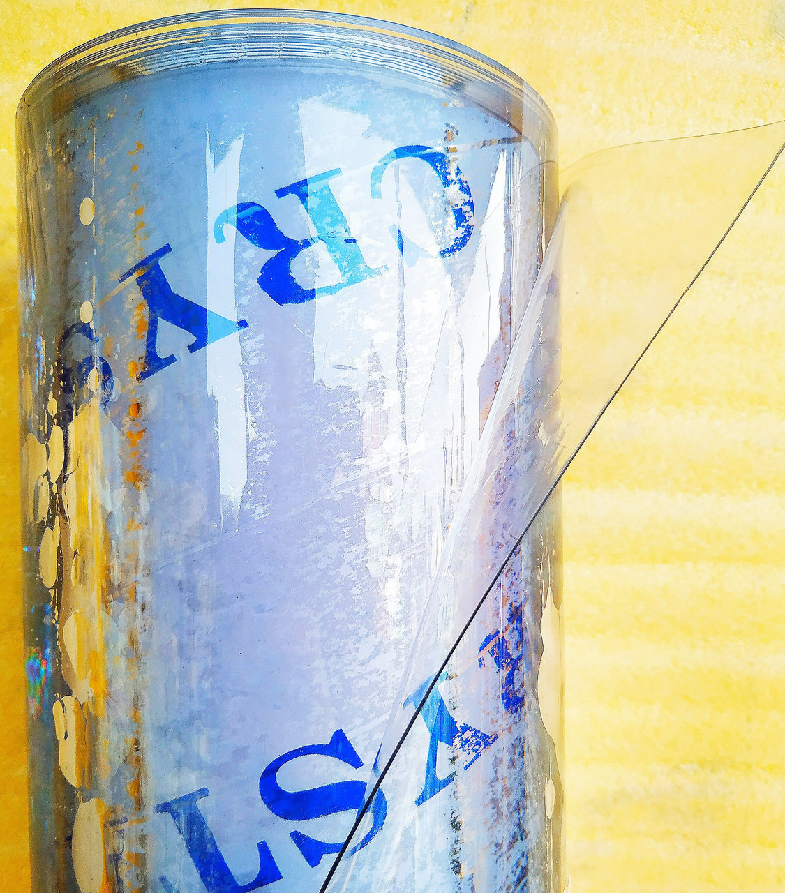 Пленка ПВХ Гибкое стекло. 1000 мкм (1мм) плотность. Ширина 140см. Рулон 15м. Прозрачная. Crystal