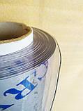 Пленка ПВХ Гибкое стекло. 1000 мкм (1мм) плотность. Ширина 140см. Рулон 15м. Прозрачная. Crystal, фото 2