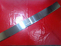 Накладка на задний бампер с загибом RENAULT TRAFIC