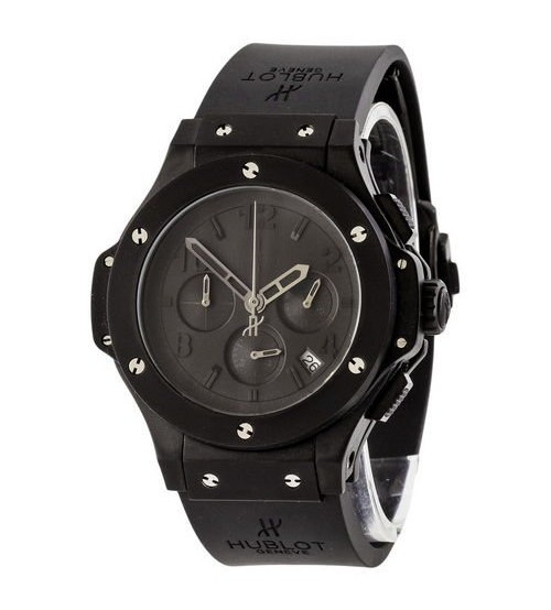 Мужские наручные часы Hublot Big Bang Chronograph All Black AAA, элитные часы Хублот, реплика ААА