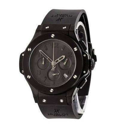 Мужские наручные часы Hublot Big Bang Chronograph All Black AAA, элитные часы Хублот, реплика ААА, фото 2
