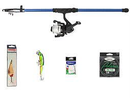 """Набір риболовний все в одному """"Щука-судак"""" універсальний 5-25гр., 2.1м, готовий до використання"""