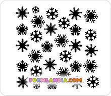 Трафарет для пряників Сніжинки №1