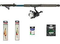 """Набір риболовний все в одному """"Спінінг на щуку"""" універсальний 30-60гр., 2.1м, готовий до використання"""