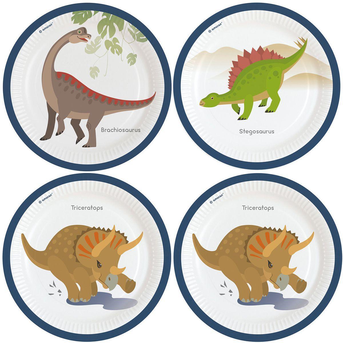 Тарелочка Динозавр 23см