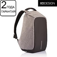 Оригинал! Гарантия 2 года. Антивор рюкзак XD Design Bobby XL anti-theft backpack 17″/Grey (P705.562), серый
