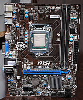 Комплект 1150 MSI H81M-E33 Intel Pentium G3340 3.3GHz