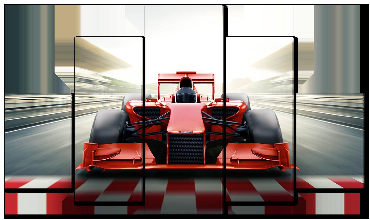 Модульная картина Interno Эко кожа Формула1  123х69см (A3724M)