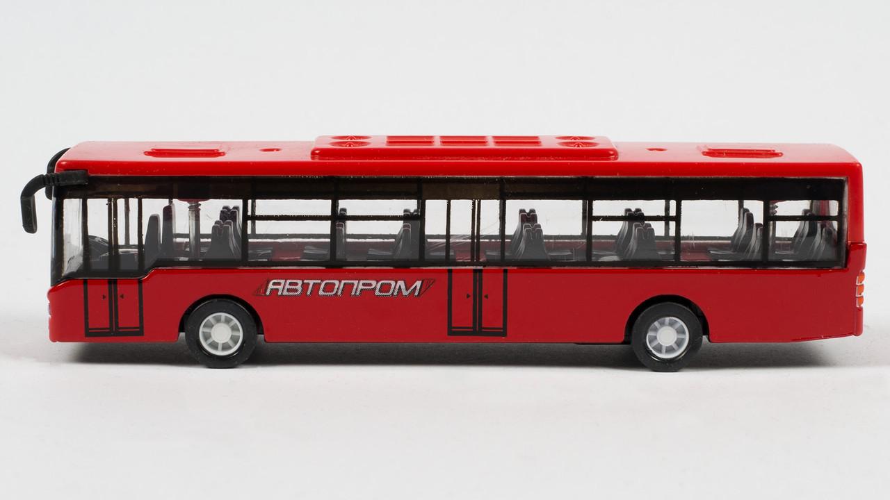 Автобус иннерционный Автопром.632-34.Синий и красный