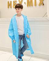 Детский дождевик плотный. Голубой