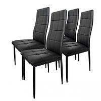 Набор из 4 стульев для кухни и бара GoodHome F261B черный (9077)