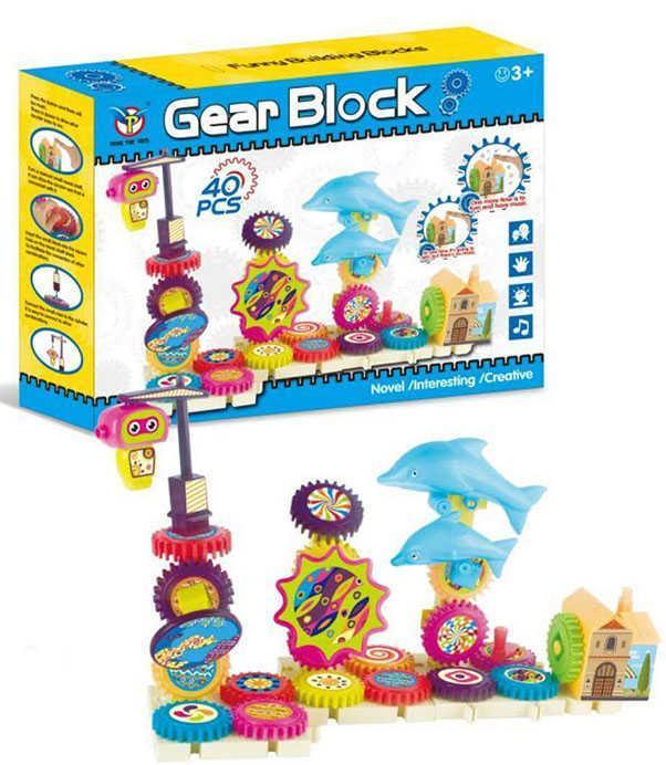 Конструктор музыкальный на шестерёнках Дельфины Gear Block 9200 40 деталей