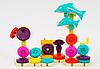 Конструктор музыкальный на шестерёнках Дельфины Gear Block 9200 40 деталей, фото 3
