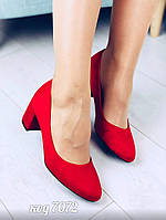 Красные туфли из эко-замши 37 размер, фото 1