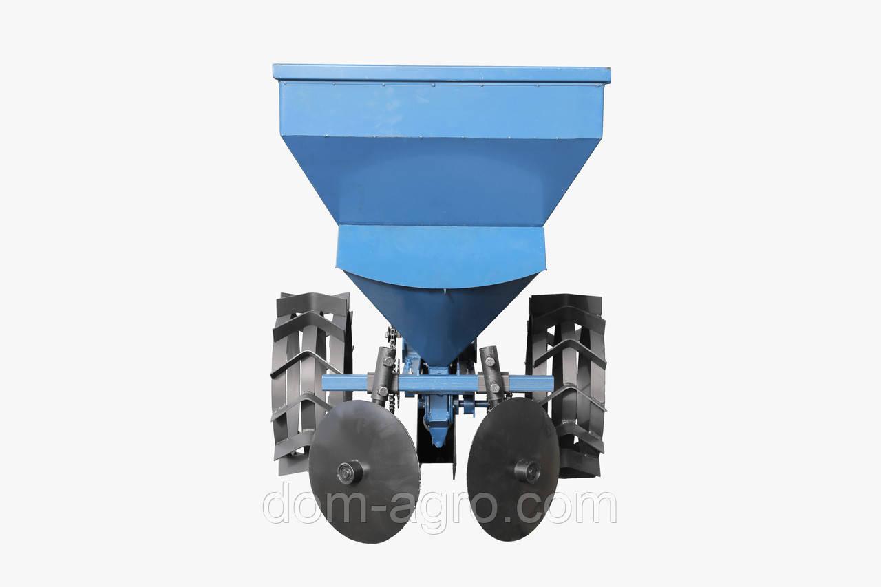 Картофелесажалка к мототрактору с бункером для удобрений (КС13)