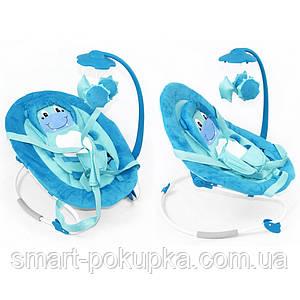 Детский шезлонг BT-BB-0002 BLUE кор.ш.к./1/