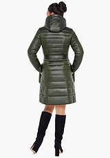 Воздуховик Braggart Angel's Fluff 31845   Осеннее-весенняя женская куртка цвет темный хаки, фото 3