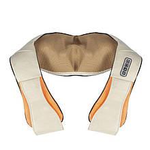 Роликовый массажер для спины и шеи Massager of Neck Kneading на 4 кнопки