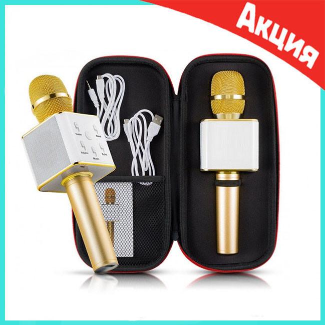 Беспроводной Bluetooth караоке-микрофон Q7 | Золотой