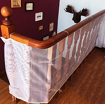 Защитная сетка от детей на лестницу,балкон300*74 см. Белая