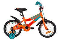 """Детский Велосипед 14"""" Formula RACE  усилен.   рама-8,5"""" St оранжево-бирюзовый  с крылом Pl 2019"""
